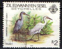SEYCHELLES - ZIL ELWANNYEN SESEL - 1983 - DIMORPHIC LITTLE EGRET - USATO - Seychelles (1976-...)