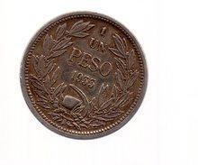REF 1  : Monnaie Coin CHILI CHILE 1 Un Peso 1933 - Chili