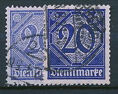 D. Reich Dienst. Nr. 26 In 2 Farben Geprüft ~ Michel ?,-- Euro - Errors And Oddities