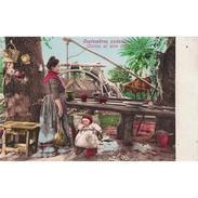 COSTP0612-LFTM3216.Tarjeta Postal DE GRANADA.Arboles,plantas.COSTUMBRES ANDALUZAS.COCINA AL AIRE LIBRE - Culturas