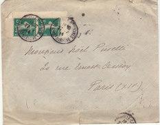 ESC 15c Semeuse  Paire Coin De Carnet O. Marseille Capucines  -> Paris 1914 - 1877-1920: Semi Modern Period