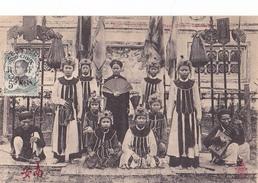 26227 VIET NAM - TONKIN - Nam Dinh -chanteuses  -390 Dieulefils -costume Eventail Musicien Instrument Musique - Viêt-Nam