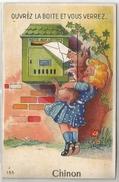 37 Carte à Système  Ouvrez La Boite Et Vous Verrez CHINON (10 Petites Vues) - Chinon