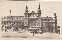 Verviers - Gare Centrale (animée, Oldtimer, 1935, Véritable Photographie, Marcophilie) - Verviers