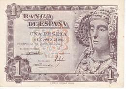 BILLETE DE 1 PTA DEL AÑO 1948 SERIE E - DAMA DE ELCHE  (BANKNOTE) SIN CIRCULAR -UNCIRCULATED - [ 3] 1936-1975 : Régence De Franco