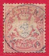 Bavière N°54 1M Lie-de-vin 1881-1901 (MÜNCHEN 19 DEZ 99) O - Bavière