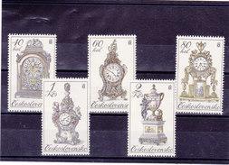 TCHECOSLOVAQUIE 1979 HORLOGES Yvert 2355-2359 NEUF** MNH