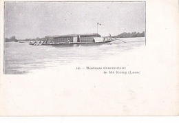 26245 LAOS  Radeau Descendant Le Me Kong -445 Mottet Saigon - Laos