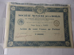 MINIERE DE LA BORJA - Actions & Titres