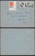 A573 France Lettre De St Aygule à Mereville 1954 - Storia Postale