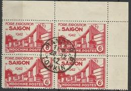 INDOCHINE N° 231 Cachet Hanoi R P Tonkin - Bloc De 4 - Used Stamps