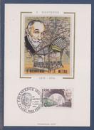=Hommage à Fulgence Bienvenue Créateur Du Métro Carte Postale 1er Jour Uzel Près L'Oust 17.1.87 N°2452 Portrait Et Métro - Maximum Cards