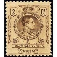 ES267STV-LFT**267STAN.España.Spain. Espagne.Rey ALFONSO Xlll.MEDALLON .1909(Ed 267* )con  Charnela - Ungebraucht