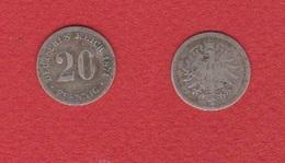 Allemagne  --  20 Pfennig 1874 C  --  état  B - [ 2] 1871-1918 : Impero Tedesco