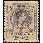 ES270STV-LFT**270STAN.España.Spain. Espagne.Rey ALFONSO Xlll.MEDALLON .1909(Ed 270* )con  Charnela - Ungebraucht