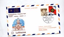 Lettre  Premier Vol Lufthansa Frankfurt Helsinki - Airplanes