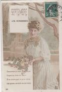 CPA FRANCE Carte Postale Femme Avec Raisins Septembre Les Vendanges - Evénements