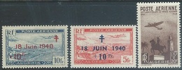 Algeria 1947-9   Sc#CB1-3  Airmails MLH*  2016 Scott Value $12 - Algeria (1924-1962)
