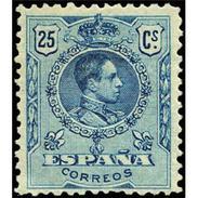 ES274STV-LFT**274STAN.España.Spain. Espagne.Rey ALFONSO Xlll.MEDALLON .1909(Ed 274* )con  Charnela - Ungebraucht
