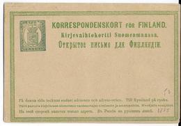 FINLANDE - 1874 - CARTE ENTIER POSTAL NEUVE - - Finlande