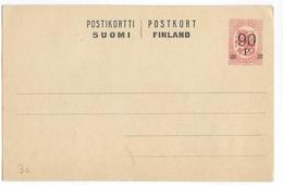 FINLANDE - 1921 - CARTE ENTIER POSTAL NEUVE - - Finlande