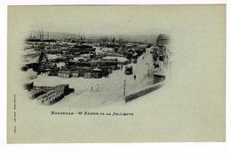 Deux Cartes Postales Photos. Lacour Fond Bleu Vert: Le Vieux Port (entrée), Le Bassin De La Joliette. (1511) - Vieux Port, Saint Victor, Le Panier
