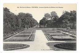 PONT-REAN  (cpa 35)  Avenue Et Jardins Du Château De La Mazaye-    - L 1 - Autres Communes