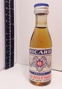 Mignonnette RICARD, Echantillon Gratuit ,Pastis De Marseille  45° - Miniatures