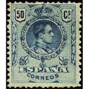 ES277STV-LFT**277STAN.España.Spain. Espagne.Rey ALFONSO Xlll.MEDALLON .1909(Ed 277* )con  Charnela - Ungebraucht