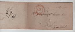 LSC Anvers 13 Oct 1838 C.Rouge Taxée 5 V.Dinant 15 Oct 1838 C.Noir PR4550 - 1830-1849 (Belgique Indépendante)