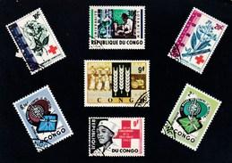 REPUBLIQUE DU CONGO  SELECTION DE TIMBRES POSTES  CARTE N° 2 (dil76) - Timbres (représentations)