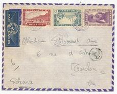 Senegal - Lettre De Dakar Succursale Cachet Violet , Lettre Censué  Pour Toulon - Senegal (1887-1944)