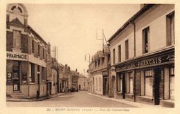 CPA  -  SAINT - GOBAIN  (02)   Rue De Montevideo -  Comptoirs Français -  Pharmacie - France
