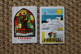 Lot D'étiquettes Pour Bagages Valises Portugal Algarve Estoril - Old Paper