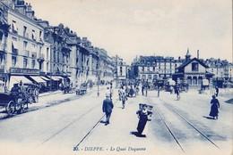 DIEPPE. - Le Quai Duquesne. Cliché Pas Courant - Dieppe