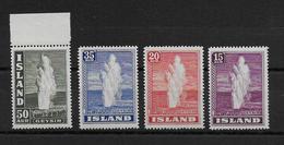 ISLANDE - 1939 - YVERT N° 176/178+180 ** MNH - COTE = 106 EURO - Neufs
