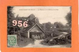 CPA * * SAINT-VAAST-LES-MELLO * * La Fontaine Et Le Château De La Folie - Francia