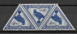 ISLANDE - POSTE AERIENNE - YVERT N° 3 ** MNH TETE-BECHE - COTE = 150+ EURO - Neufs