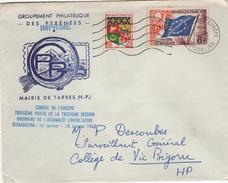 FR-L114 - FRANCE Lettre Conseil De L'Europe 1962 Pour Vis Ce Bigorre - Service