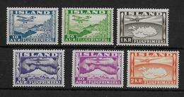 ISLANDE - POSTE AERIENNE - YVERT N° 15/20 ** MNH  - COTE = 110 EURO - Neufs
