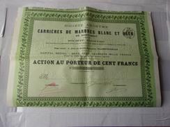 CARRIERES DE MARBRES BLANC ET BLEU DE SAINT BEAT (1902) Villeneuve Sur Lot - Unclassified