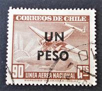 POSTE AERIENNE SURCHARGEE 1951 - OBLITERE - YT 139 - MI 459 - Chili