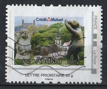 France : Timbre Personnalisé : Crédit Mutuel - Andlau 1912-2012
