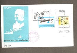 F.D.C. JOAN MIRO' CENTENARIO 1993 - ANNULLO BARCELLONA - FDC