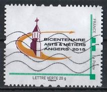 France : Timbre Personnalisé : Bicentenaire Des Arts Et Métiers D'Angers 2015