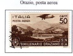 ITALIA REGNO 1936  P.A.  ORAZIO   Usati / Used - 1900-44 Vittorio Emanuele III