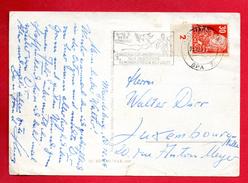 Allemagne . Zone Soviétique. 30 Pf. Rouge-orange N°. 222. (1948-  Friedrich Engels) Sur CP Frohes Neues Jahr 1949 - Zone Soviétique