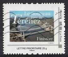 France : Timbre Personnalisé : Le Nouveau Pont De Ténérez ( Finistère )