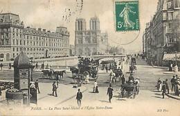 PIE-17-P.T.FR. 2490 : PARIS. PLACE SAINT-MICHEL - Francia