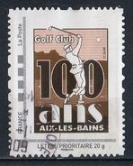 France : Timbre Personnalisé : 100 Ans Du Golf Club D'Aix-les-Bains